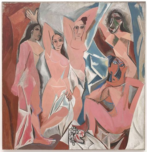 Les Demoiselles d'Avignon oil on canvas