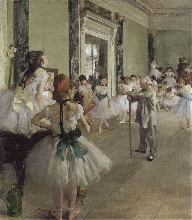 The Dance Class (La Classe de Danse), 1873–1876, oil on canvas, by Edgar Degas
