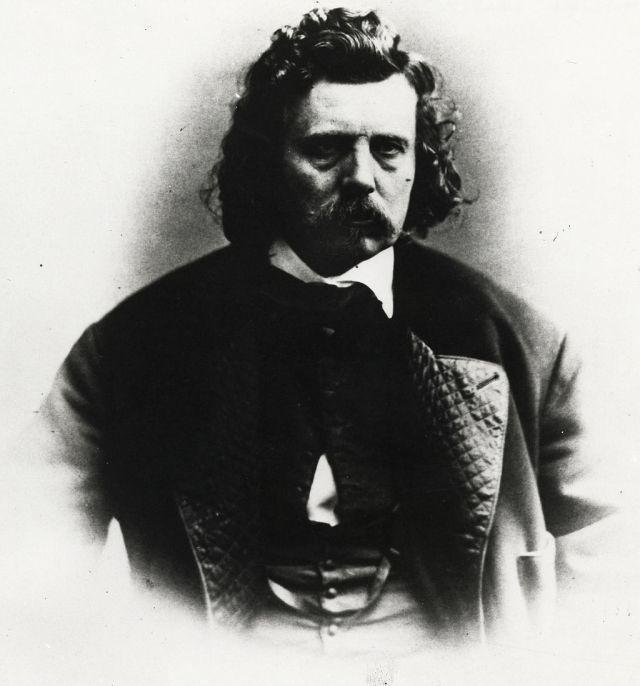 black and white photo of artist Emanuel Leutz