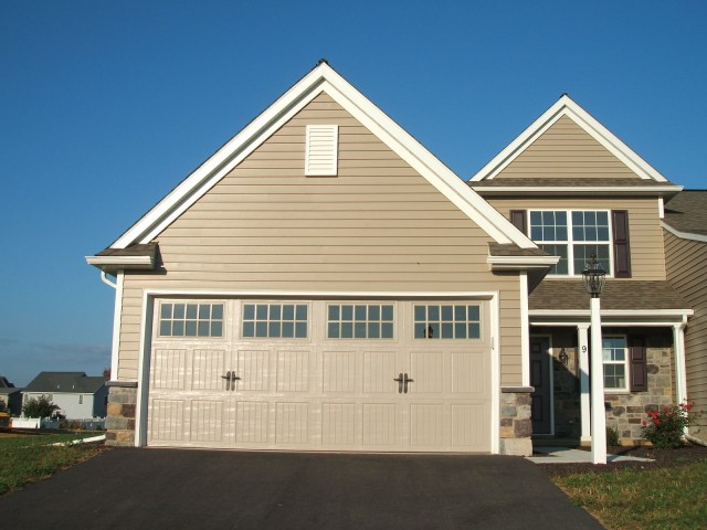 Exterior of newly built home in the Village at Springbrook Farms