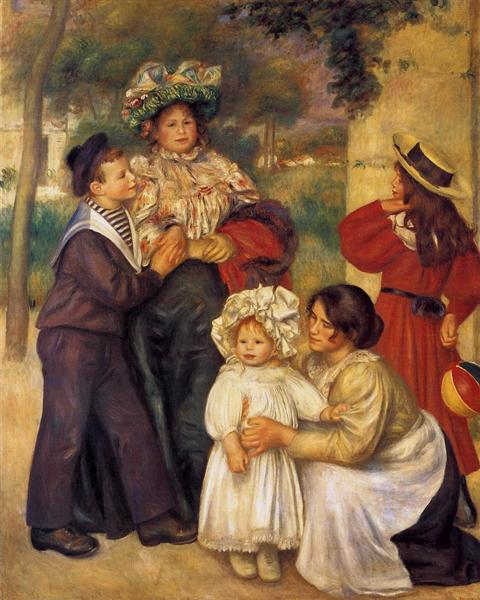 Portrait painting, The Artist's Family by Pierre-Auguste Renoir